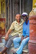 Cuban People, Vintage Cars, Street Life &amp; Building Architecture<br /> Havana, Cuba<br /> Central Havana District (Centro Habana)