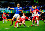 Portsmouth's Adam McGurk during the The FA Cup match between Portsmouth and Accrington Stanley at Fratton Park, Portsmouth, England on 5 December 2015. Photo by Graham Hunt.