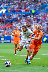 07-07-2019 FRA: Final USA - Netherlands, Lyon<br /> FIFA Women's World Cup France final match between United States of America and Netherlands at Parc Olympique Lyonnais. USA won 2-0 / Tobin Heath #17 of the United States, Stefanie van der Gragt #3 of the Netherlands