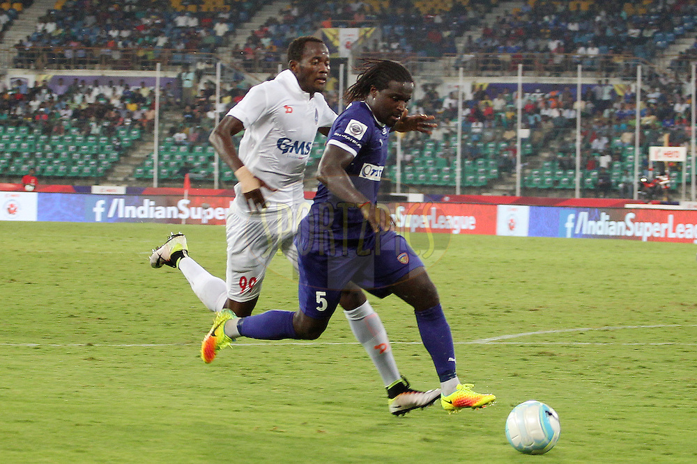 Bernard Mendy of Chennaiyin FC  during match 6 of the Indian Super League (ISL) season 3 between Chennaiyin FC and Delhi Dynamos FC held at the Jawaharlal Nehru Stadium in Chennai, India on the 6th October 2016.<br /> <br /> Photo by Ron Gaunt / ISL/ SPORTZPICS