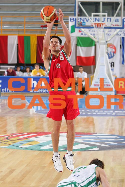DESCRIZIONE : Gorizia Nova Gorica U20 European Championship Men Campionato Europeo<br /> GIOCATORE : Kornel Kiss <br /> SQUADRA : Hungary Ungheria<br /> EVENTO : Gorizia Nova Gorica U20 European Championship Men Campionato Europeo<br /> GARA : Hungary Ungheria Slovenia<br /> DATA : 08/07/2007<br /> CATEGORIA : Tiro<br /> SPORT : Pallacanestro <br /> AUTORE : Agenzia Ciamillo-Castoria/S.Silvestri