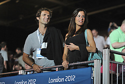 03.08.2012, ExCeL Exhibition Centre, London, GBR, Olympia 2012, Fechten, im Bild Carlo Oggero, Aldo MONTANO con Antonella MOSETTI // during fencing, at the 2012 Summer Olympics at ExCeL Exhibition Centre, London, United Kingdom on 2012/08/03. EXPA Pictures © 2012, PhotoCredit: EXPA/ Insidefoto/ Giovanni Minozzi      ***** ATTENTION - for AUT, SLO, CRO, SRB, SUI and SWE only *****