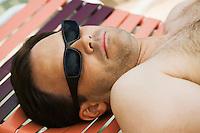 Man Sunbathing