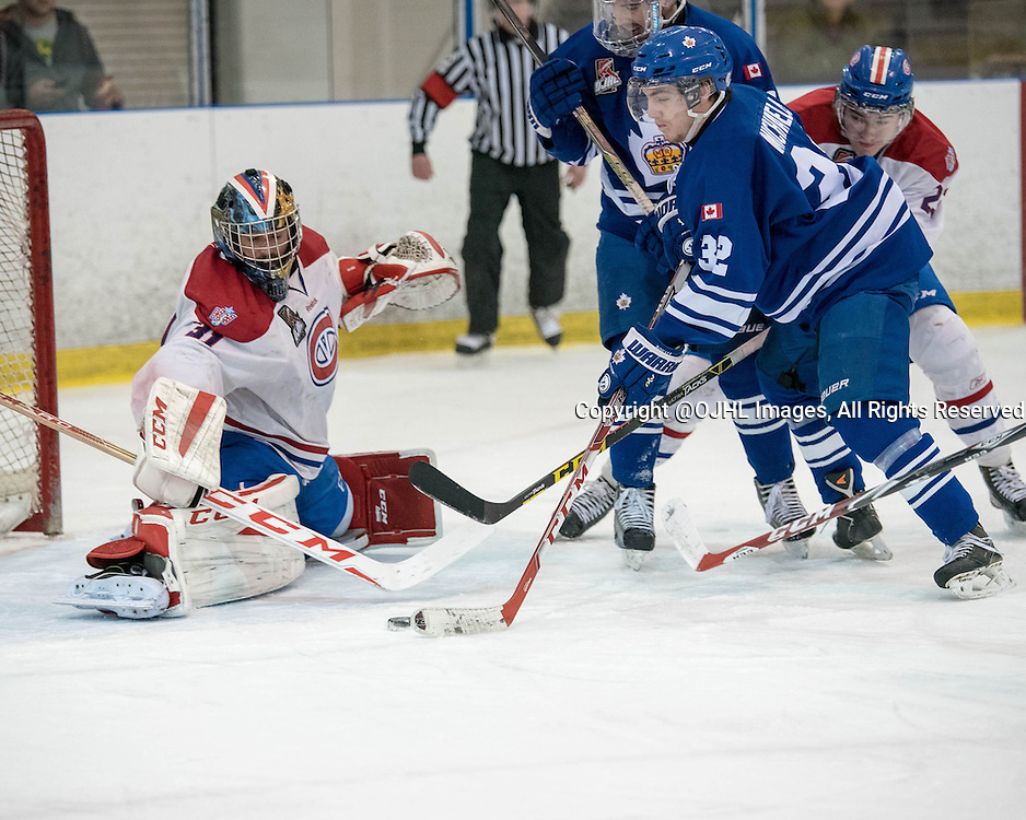Ontario Junior Hockey League Game Action Between Markham Royals And
