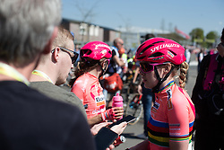 Anna van der Breggen (NED) of Boels-Dolmans Cycling Team after the finish of the Amstel Gold Race - Ladies Edition - a 126.8 km road race, between Maastricht and Valkenburg on April 21, 2019, in Limburg, Netherlands. (Photo by Balint Hamvas/Velofocus.com)
