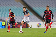 SYDNEY, AUSTRALIA - APRIL 27: Melbourne Victory midfielder Terry Antonis (8) dribbles the ball at round 27 of the Hyundai A-League Soccer between Western Sydney Wanderers FC and Melbourne Victory on April 27, 2019 at ANZ Stadium in Sydney, Australia. (Photo by Speed Media/Icon Sportswire)