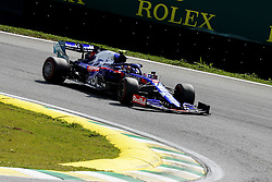 November 17, 2019, Sao Paulo, SP, Brazil: PIERRE GASLY of the Toro Rosso Honda 2th place of the Brazilian Formula 1 Grand Prix at Interlagos racetrack. (Credit Image: © Marcelo Chello/ZUMA Wire)