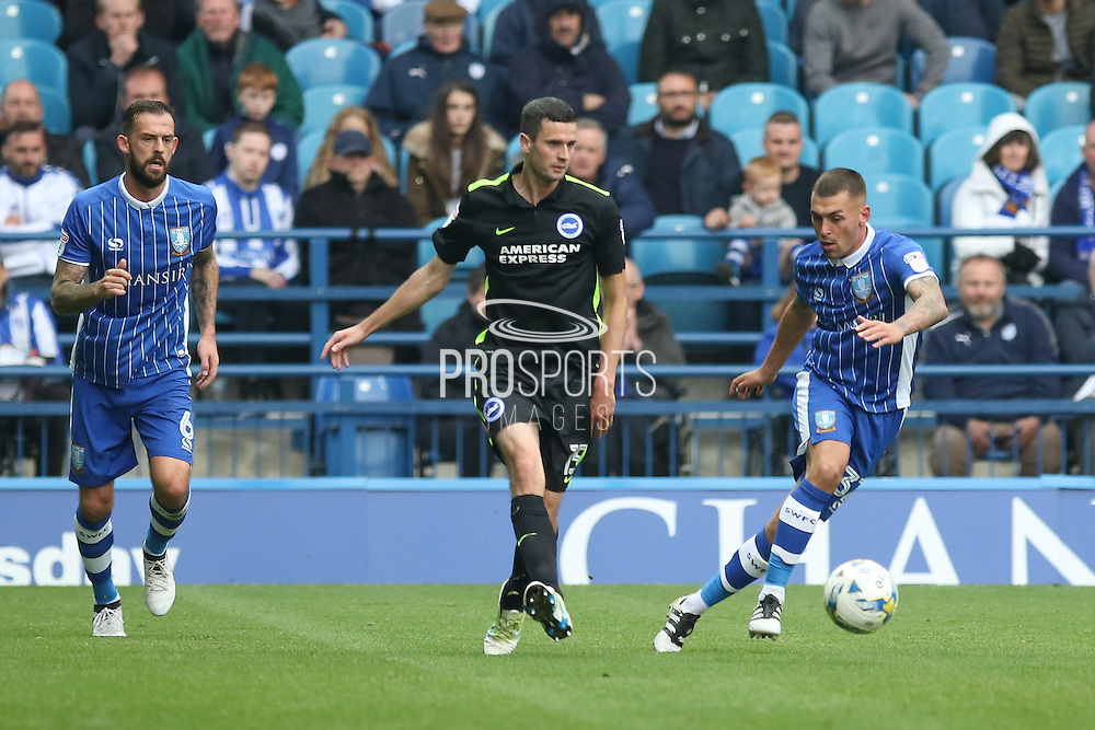 Brighton & Hove Albion winger Jamie Murphy (15) during the EFL Sky Bet Championship match between Sheffield Wednesday and Brighton and Hove Albion at Hillsborough, Sheffield, England on 1 October 2016. Photo by Phil Duncan.