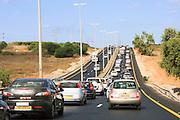 Israel Traffic pileup