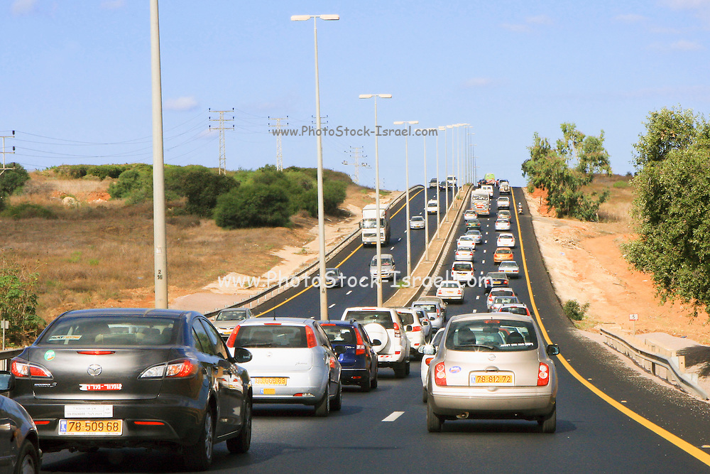 Israel Traffic pileup