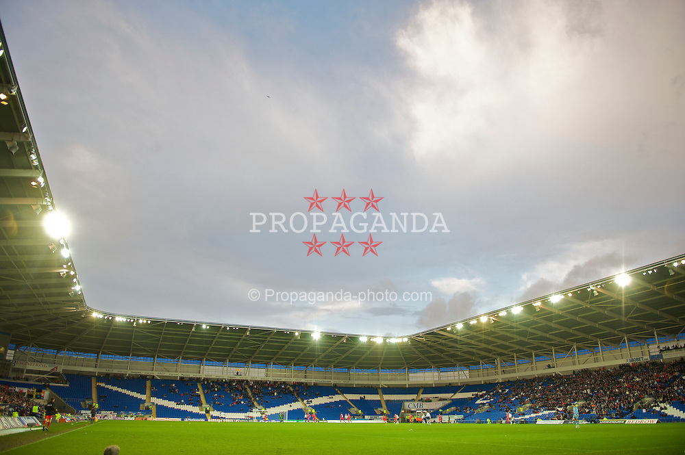 CARDIFF, WALES - Saturday, November 14, 2009: Wales take on Scotland during the international friendly match at the Cardiff City Stadium. (Pic by David Rawcliffe/Propaganda)