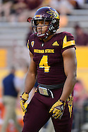 TEMPE, AZ - SEPTEMBER 24:  Running back Demario Richard #4 of the Arizona State Sun Devils warms up prior to the game against the California Golden Bears at Sun Devil Stadium on September 24, 2016 in Tempe, Arizona. The Sun Devils won 51-41.  (Photo by Jennifer Stewart/Getty Images)