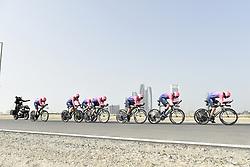 February 24, 2019 - Abu Dhabi, Emirati Arabi Uniti, Emirati Arabi Uniti - Foto LaPresse - Fabio Ferrari.24 Febbraio 2019 Abu Dhabi (Emirati Arabi Uniti).Sport Ciclismo.UAE Tour 2019 - Tappa 1 - Da Al Hudayriat Island a Al.Hudayriat Island - Crono squadre 16 km.Nella foto: EF..Photo LaPresse - Fabio Ferrari.February 24, 2019 Abu Dhabi (United Arab Emirates) .Sport Cycling.UAE Tour 2019 - Stage 1 - From Al Hudayriat Island to.Al Hudayriat Island - TTT 9,9 miles.In the pic: EF (Credit Image: © Fabio Ferrari/Lapresse via ZUMA Press)