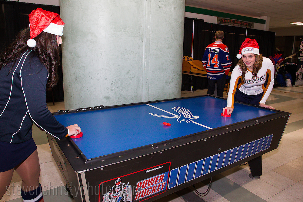 December 18, 2013: The Oklahoma City Barons hold a party for season seat holders at Remington Park in Oklahoma City, OK.