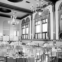 Interior of Alison and Matt's Chicago wedding reception at Germania Place.