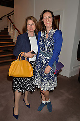 Left to right, GILL RITBLAT and HELENA NEWMAN at a reception to celebrate the publication of Hockney - A Pilgrim's Progress by Christopher Simon Sykes held at Sotheby's, New Bond Street, London on 30th September 2014.