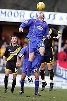 Fotball<br /> England 2004/2005<br /> Foto: SBI/Digitalsport<br /> 01.01.2005<br /> NORWAY ONLY<br /> <br /> Shrewsbury Town v Bristol Rovers<br /> Coca-Cola League Two<br /> Gay Meadow Field, Shrewsbury.<br /> <br /> Shrewsbury's Kelvin Langmead wins a header from Steve Elliot
