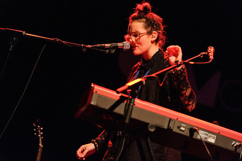 Photos of the Icelandic musician Soley performing live at Terminal 5, NYC. November 20, 2012. Copyright © 2012 Matthew Eisman. All Rights Reserved.