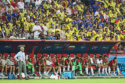 June 24, 2018 - Kazan, Russia - Adam Nawalka, Head coach of Poland looks his team during the Russia 2018 World Cup Group H football match between Poland and Colombia at the Kazan Arena in Kazan on June 24, 2018. Colombia won 0-3. (Credit Image: © Foto Olimpik/NurPhoto via ZUMA Press)