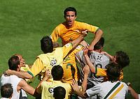 Jubel 2:1 Tim Cahill oben Australien<br /> Fussball WM 2006 Australien - Japan<br /> Fotball VM<br /> Australia<br /> Norway only