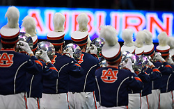 The Auburn band performs during the Chick-fil-A Peach Bowl NCAA college football game between Auburn University and the University of Central Florida, January 1, 2018, in Atlanta. (David Tulis via Abell Images for Chick-fil-A Peach Bowl)