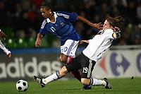 Fotball<br /> U21 Frankrike v Tyskland<br /> Foto: DPPI/Digitalsport<br /> NORWAY ONLY<br /> <br /> FOOTBALL - EUROPEAN CHAMPIONSHIP UNDER 21 2009 - PLAY OFF FOR FINAL TOURNAMENT - 2ND LEG - FRANCE v GERMANY UNDER 21 - 15/10/2008 -  LOIC REMY (FRA) / EUGEN POLANSKI  (GER)
