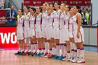 Equipe de Serbie - 28.06.2015 - France / Serbie - Finale Championnat d'Europe feminin de Basket ball -Budapest<br /> Photo : Attila Volgyi / Icon Sport