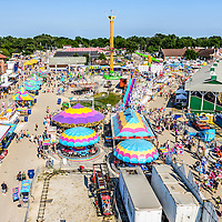 Lake County Fair Aerial Picture in Crown Point, Indiana.  The Lake County Fair started in 1852 and is held annually at the Lake County Fairgrounds. The photo is high resolution and was taken in 2013.