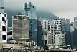 Hong Kong - Victoria Harbour vista dal Lungomare di  Wanchai.