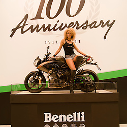 MILAN, NOVEMBER 3: Benelli stand at EICMA, 68th International Bicycle and motorcycle Exhibition in Milan Fair, November 2nd - 7th, 2010