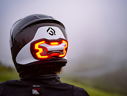 "April 3, 2017 - inconnu - A new motorcycling accessory is set to improve rider safety – with its own high visibility brake light.Brake Free is a one-of-a-kind smart, high-visibility device that fits onto a helmet.It uses LED technology to drastically improve rider visibility to other road users drivers, day and night. The device uses sensors to detect braking, so it is completely wireless, and requires no connection to the motorcycle's electronics. With its sensors, Brake Free automatically lights up no matter how the rider slows down: braking, engine braking or downshifting to alert surrounding drivers. It is mounted on the back of a helmet, at eye level so all surrounding drivers will see the rider. Brake Free uses a shape that is optimized to fit most helmets and to maximize the surface area of the lights. It uses a total of a 100 super bright LEDs to get the job done. It is rechargeable and has an eight hour battery life..It attaches to any helmet using powerful magnets..It has a 120 degree radius so it can be seen from either side as well as from behindUS company Brake Free Technologies chief executive Alex Arkhangelskiy, said: ""We are extremely excited to introduce Brake Free to the motorcycle and scooter rider community. ""It is a much needed safety innovation that will help solve the visibility problem and save many lives. ""Brake Free is the first safety accessory to combine the latest sensor and LED technologies in a simple and beautiful product that riders will be proud to wear.""The company's industrial designer Ian Dunn added:"" We are borrowing some of the advanced manufacturing techniques from companies like Audi and BMW""""We're delivering a safety product that is brighter and thinner than any other in an application like this."" Brake Free con-founder Johan Boot said:"" ""What's special about Brake Free is it can detect deceleration in the direction of travel"" Even when th"