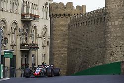 April 28, 2018 - Baku, Azerbaijan - MAGNUSSEN Kevin (dnk), Haas F1 Team VF-18 Ferrari, action during the 2018 Formula One World Championship, Grand Prix of Europe in Azerbaijan from April 26 to 29 in Baku  (Credit Image: © Hoch Zwei via ZUMA Wire)