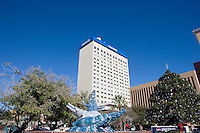 San Jacinto Plaza is the heart and transportation center in downtown, El Paso, Texas.