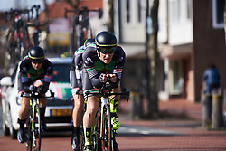 Natalie van Gogh (NED) leads Parkhotel Valkenburg at Healthy Ageing Tour 2018 - Stage 3b, a 16 km team time trial starting and finishing in Stadskanaal on April 6, 2018. Photo by Sean Robinson/Velofocus.com