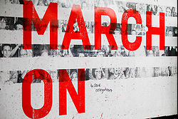 A general view of a 'March On' sign with 'to 2018 relegation' scribbled out in an overpass leading to St Marys Stadium prior to kick off - Mandatory by-line: Ryan Hiscott/JMP - 12/08/2018 - FOOTBALL - St Mary's Stadium - Southampton, England - Southampton v Burnley - Premier League