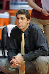 13 September 2011: Loyola Ramblers coach Chris Muscat during an NCAA volleyball match between the Ramblers of Loyola and the Illinois State Redbirds at Redbird Arena in Normal Illinois.