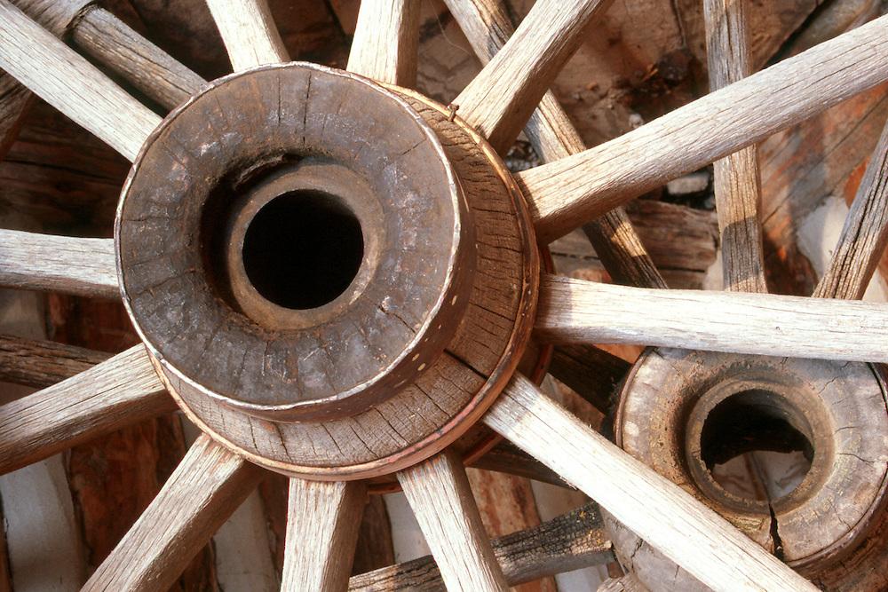 Antique wagon wheels, Cypress Hills Park