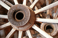 Antique wagon wheels, Cypress Hills Park