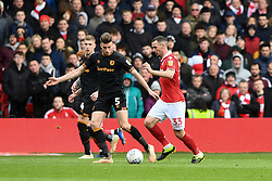 March 9, 2019 - Nottingham, England, United Kingdom - Leo Bonatini (33) of Nottingham Forest on the ball with Reece Burke (5) of Hull City looking to make a tackle during the Sky Bet Championship match between Nottingham Forest and Hull City at the City Ground, Nottingham on Saturday 9th March 2019. (Credit Image: © Jon Hobley/NurPhoto via ZUMA Press)