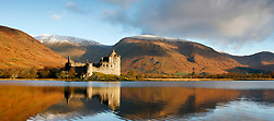 Kilchurn Castle, Loch Awe, Argyll in full autumn colours with the first snow fall on the summits of the Cruachan range... (c) Stephen Lawson   Edinburgh Elite media