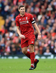 Liverpool's Steven Gerrard during the Legends match at Anfield Stadium, Liverpool.