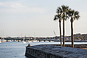 Matanzas Bay in St. Augustine, Florida. St Augustine is the oldest city in America.