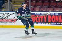 KELOWNA, BC - JANUARY 30: Jake Lee #24 of the Seattle Thunderbirds skates against the Kelowna Rockets at Prospera Place on January 30, 2019 in Kelowna, Canada. (Photo by Marissa Baecker/Getty Images)