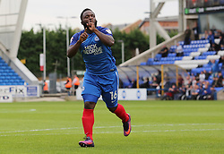 Junior Morias of Peterborough United celebrates scoring his first goal of the game to make it 1-1 - Mandatory by-line: Joe Dent/JMP - 23/09/2017 - FOOTBALL - ABAX Stadium - Peterborough, England - Peterborough United v Wigan Athletic - Sky Bet League One