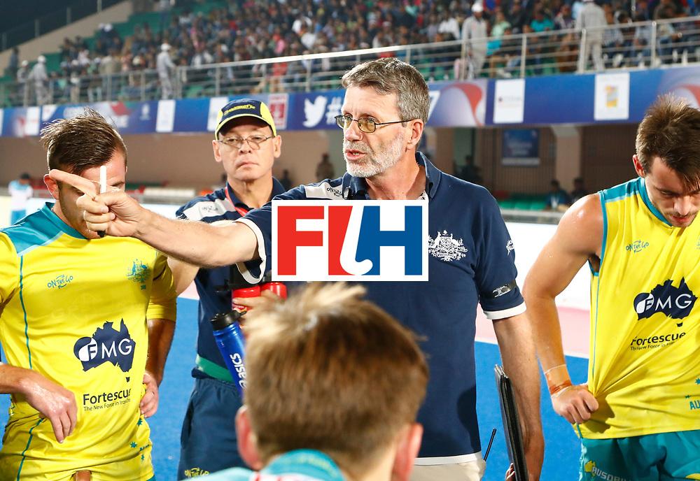 Odisha Men's Hockey World League Final Bhubaneswar 2017<br /> Match id:15<br /> Spain v Australia<br /> Foto:coach Colin Batch (Aus) <br /> COPYRIGHT WORLDSPORTPICS KOEN SUYK