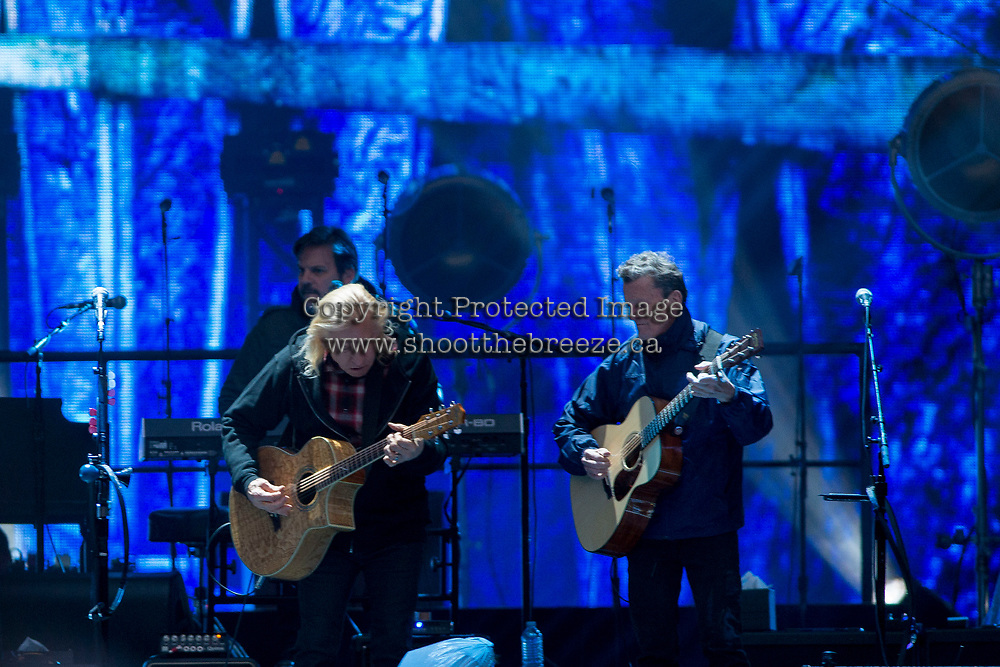 REGINA, SK - MAY 17: Joe Walsh of the Eagles performs during the opening ceremonies of the 2018 MasterCard Memorial Cup at Mosaic Stadium on May 17, 2018 in Regina, Canada. (Photo by Marissa Baecker/Shoot the Breeze)