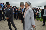 PRINCE MICHAEL OF KENT; PRINCESS MICHAEL OF KENT, 2016 Investec Derby, Epsom Downs.  4 June 2016