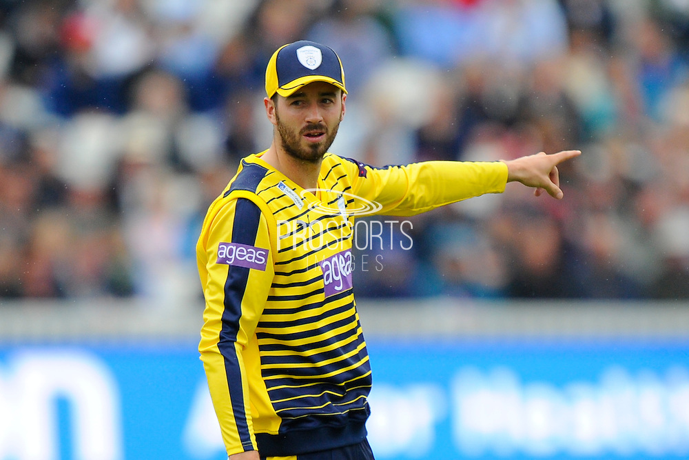 Hampshire's James Vince during the NatWest T20 Blast South Group match between Somerset County Cricket Club and Hampshire County Cricket Club at the Cooper Associates County Ground, Taunton, United Kingdom on 19 June 2016. Photo by Graham Hunt.