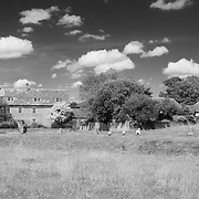 Avebury Village - Avebury, UK - Infrared Black & White