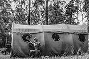 1978-lipiec-sierpień, Orzysz. Szkoła Oficerów Rezerwy (SOR) obowiązkowe szkolenie wojskowe absolwentów wyższych uczelni cywilnych. Nz. samopomoc w trakcie egzaminu oficerskiego.
